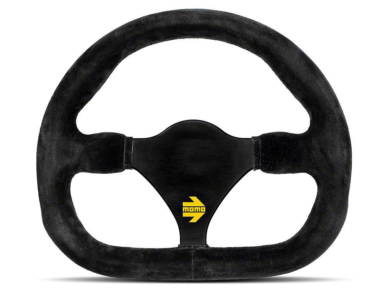 MOMO USA MOD 27 Racing Steering Wheel - Black Suede - 270mm Diameter (84-18 All)