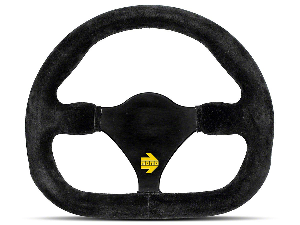 MOMO USA MOD 27 Racing Steering Wheel - Black Suede - 290mm Diameter (84-18 All)