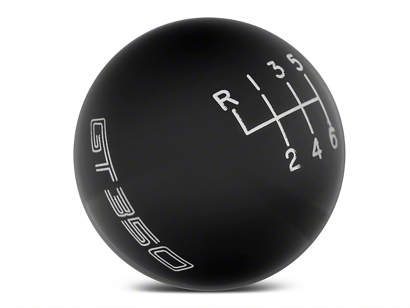 Ford Performance 6-Speed Shift Knob with GT350 Logo; Black (15-20 GT350)