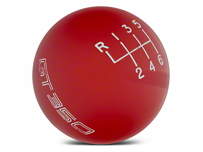 Ford Performance 6-Speed Shift Knob w/ GT350 Logo - Red (15-18 GT350)