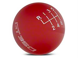 Ford Performance 6-Speed Shift Knob w/ GT350 Logo; Red (15-20 GT350)