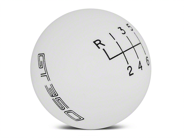 Ford Performance 6-Speed Shift Knob w/ GT350 Logo - White (15-20 GT350)