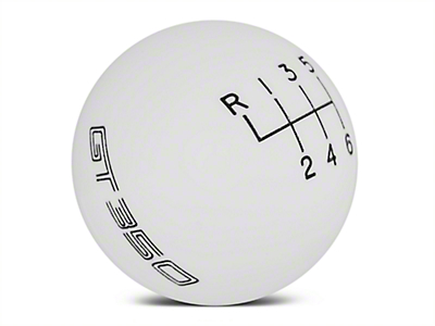 Ford Performance 6-Speed Shift Knob w/ GT350 Logo - White (15-18 GT350)