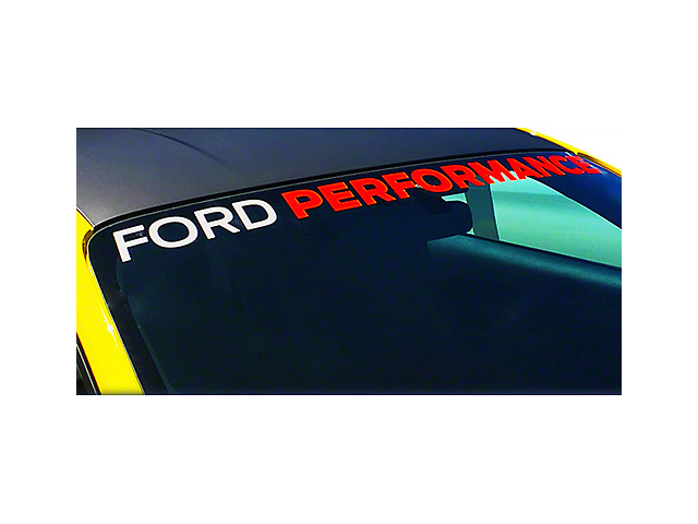 Ford Performance Windshield Banner - White & Red (05-19 All)