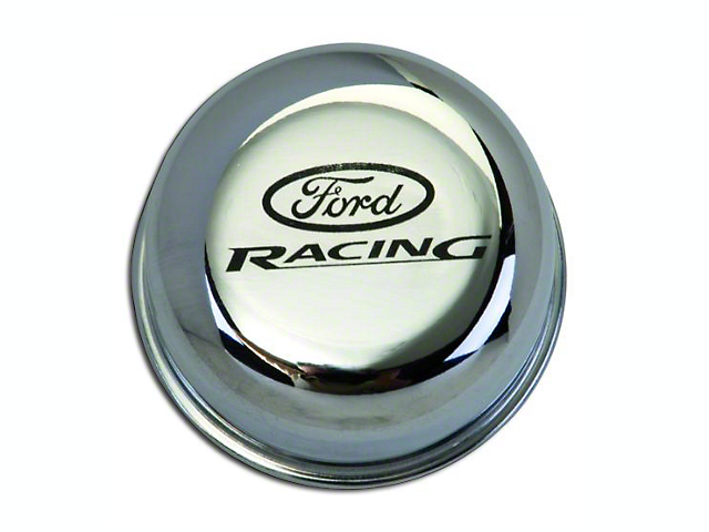 Ford Performance Chrome Breather Cap w/ Ford Racing Logo (79-93 289, 302, 351W)