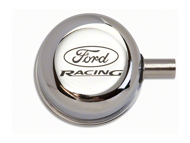 Ford Performance Breather Cap with Ford Racing Logo; Closed Crankcase Design; Chrome (79-93 289, 302, 351W)