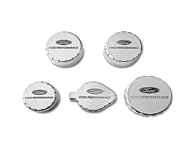 Ford Performance Billet Aluminum Engine Cap Covers (15-17 GT; 15-19 GT350)