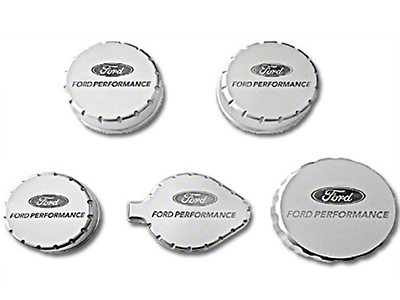 Ford Performance Billet Aluminum Engine Cap Covers (15-17 GT; 15-18 GT350)