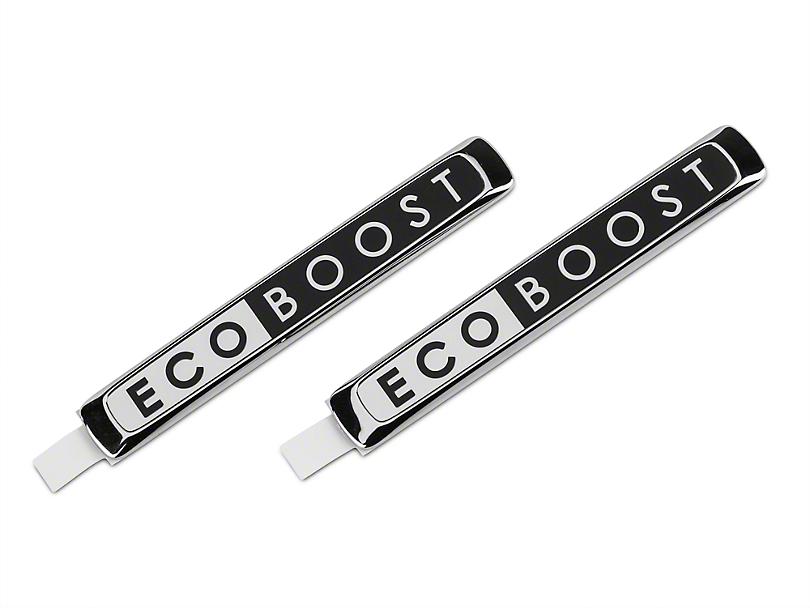 Ford Performance EcoBoost Emblem - Black & Chrome (15-18 EcoBoost)