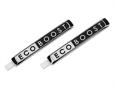 Ford Performance EcoBoost Emblem - Black & Chrome (15-19 EcoBoost)