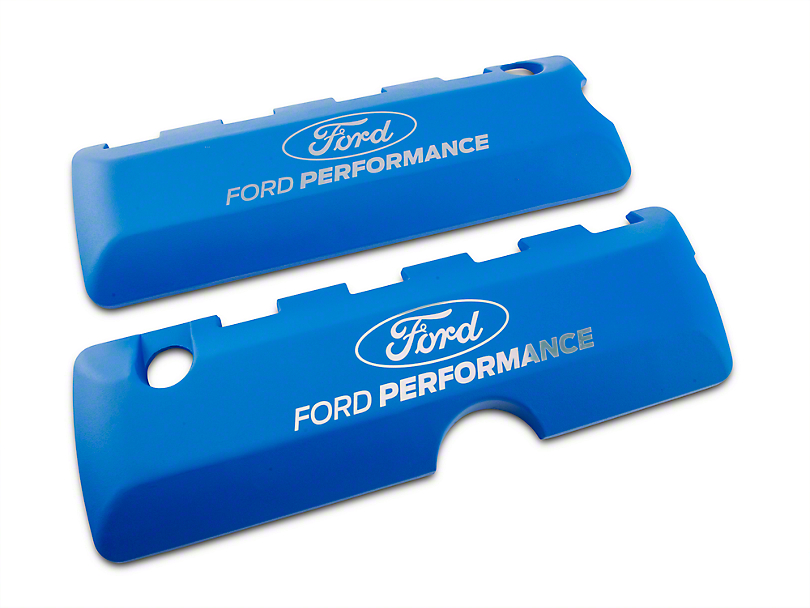 Ford Performance Coil Covers w/ Ford Performance Logo - Blue (11-17 GT; 12-13 BOSS 302; 15-20 GT350, GT500)