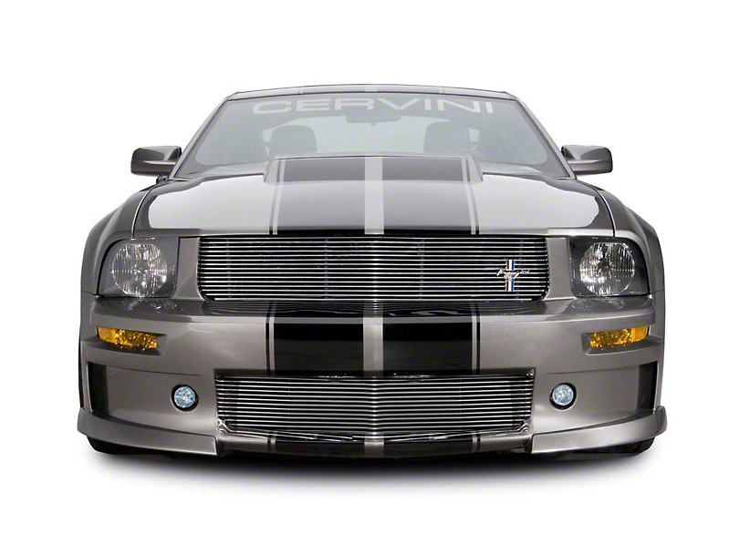 Cervini's C-Series Brushed Lower Billet Grille w/o Fog Lights (05-09 GT, V6)
