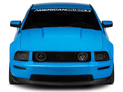 Roush 401853 Silver Hood Scoop Decal for Mustang GT