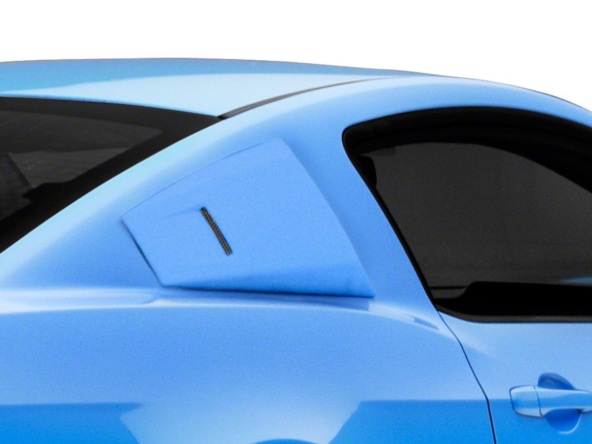 Fits 10-14 Mustang Black PP Window Louver Louvre Quarter Side Panel Scoop 5 Vent
