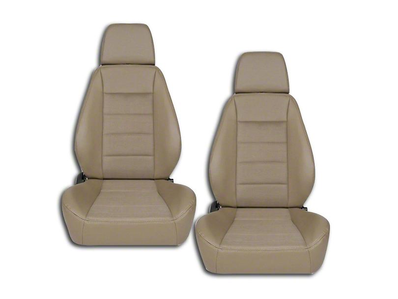 Corbeau Sport Seat Reclining Seat - Spice Vinyl/Cloth - Pair (79-18 All)