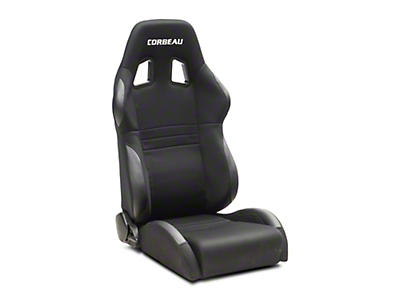 Corbeau A4 Racing Seat - Black Cloth - Pair (79-18 All)