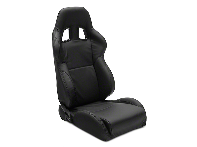 Corbeau A4 Racing Seat - Black Leather - Pair (79-19 All)
