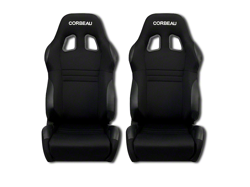 Corbeau A4 Racing Seat - Black Microsuede - Pair (79-19 All)