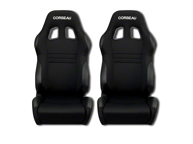 Corbeau A4 Racing Seat - Black Microsuede - Pair (79-18 All)