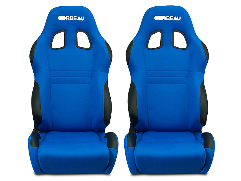 Corbeau A4 Racing Seat - Blue Cloth - Pair (79-18 All)
