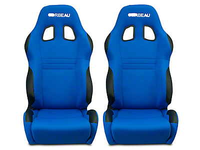 Corbeau A4 Racing Seat - Blue Cloth - Pair (79-17 All)