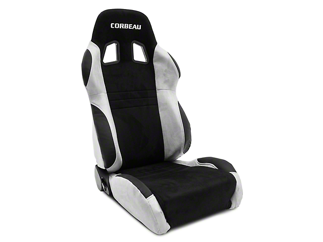 Corbeau A4 Racing Seats - Gray/Black Suede - Pair (79-20 All)