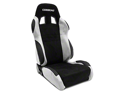 Corbeau A4 Racing Seat - Gray/Black Microsuede - Pair (79-18 All)