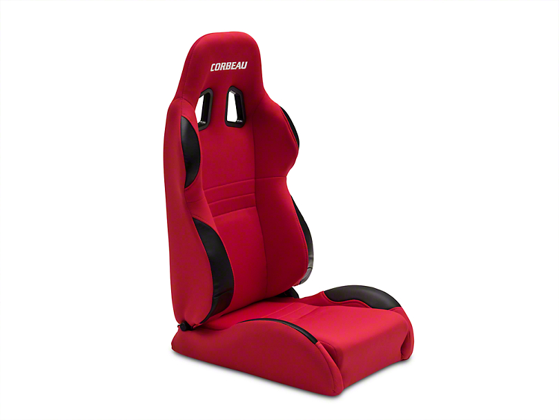 Corbeau A4 Racing Seat - Red Cloth - Pair (79-18 All)