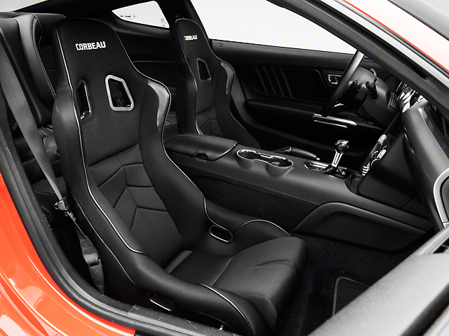 Corbeau DFX Seat; Black Vinyl/Cloth/Black Piping (79-20 All)