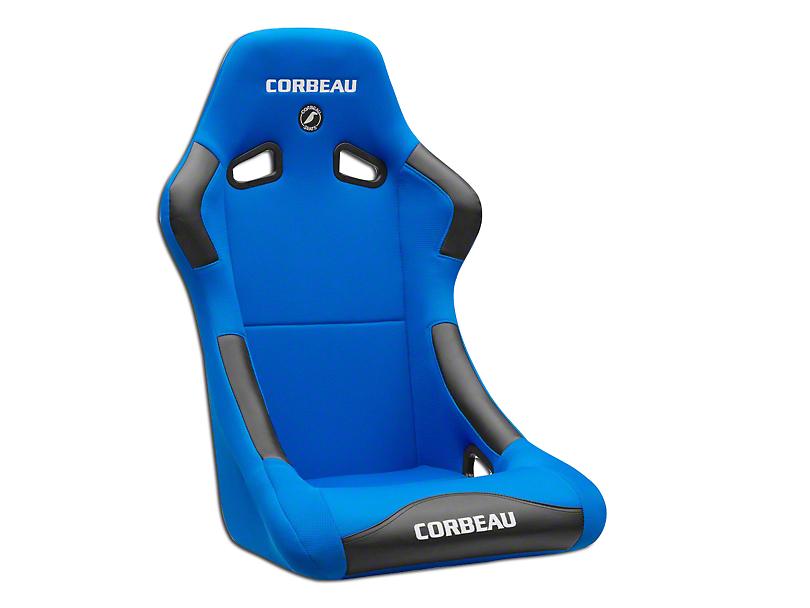 Corbeau Forza Racing Seat - Black/Blue Cloth (79-18 All)