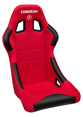 Corbeau Forza Racing Seat - Black/Red Cloth (79-17 All)