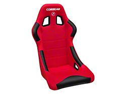 Corbeau Forza Racing Seat; Red Cloth (79-21 All)
