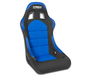 Corbeau Forza Sport Racing Seat - Black/Blue Cloth (79-17 All)