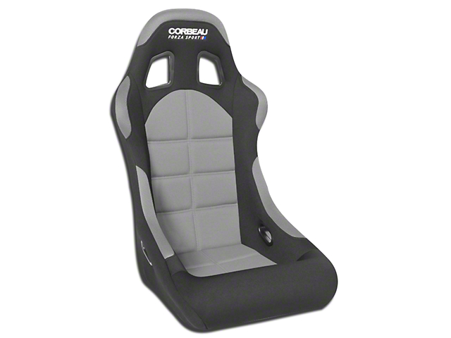 Corbeau Forza Sport Racing Seat - Black/Grey Cloth (79-17 All)