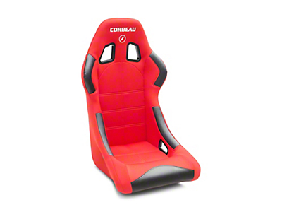 Corbeau Forza Sport Racing Seat - Black/Red Cloth (79-18 All)