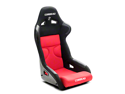 Corbeau FX1 Pro Racing Seat - Black/Red Cloth (79-19 All)