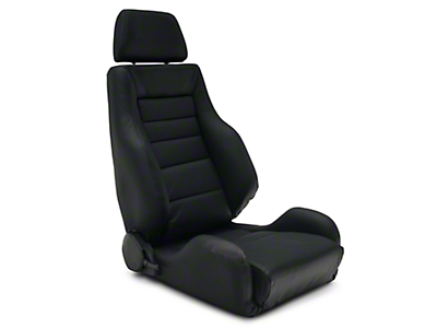 Corbeau GTS II Reclining Seat - Black Leather - Pair (79-18 All)