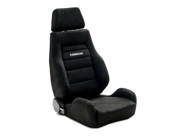 Corbeau GTS II Reclining Seats; Black Suede; Pair (79-20 All)