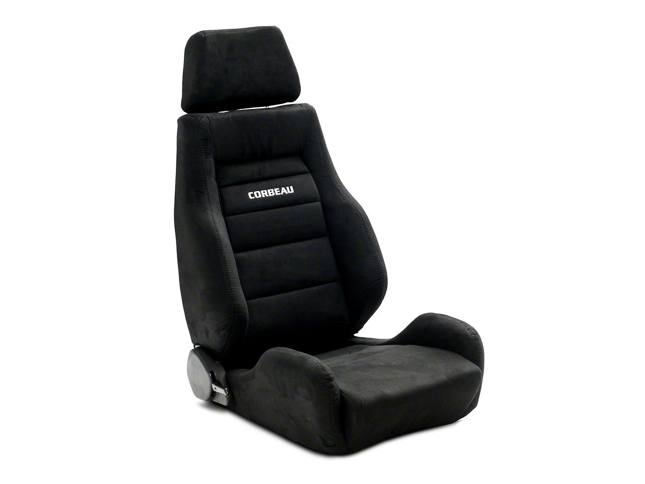 Corbeau GTS II Reclining Seat - Black Microsuede - Pair (79-19 All)
