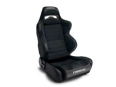 Corbeau LG1 Racing Seat - Black Cloth - Pair (79-18 All)
