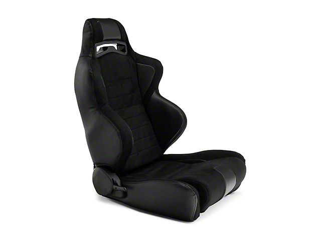 Corbeau LG1 Racing Seats; Black Suede; Pair (79-20 All)