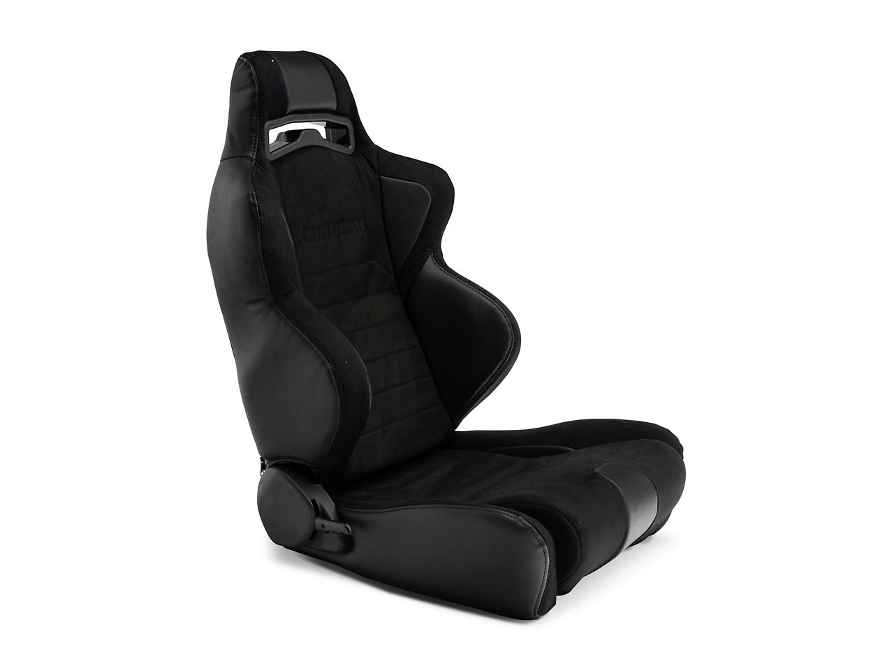 Corbeau LG1 Racing Seat - Black Microsuede - Pair (79-18 All)