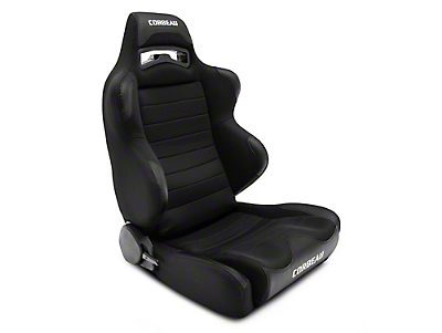Corbeau LG1 Wide Racing Seat - Black Cloth - Pair (79-17 All)