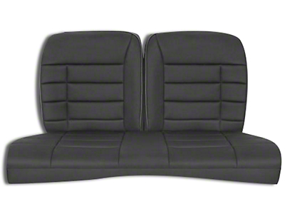 Corbeau Rear Seat Cover - Black Cloth (79-93 Coupe)