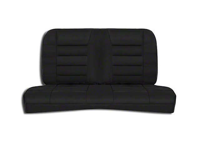 Corbeau Rear Seat Cover - Black Cloth (83-93 Convertible)