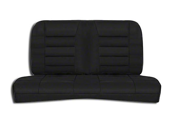Corbeau Rear Seat Cover - Black Cloth (83-93 Convertible)