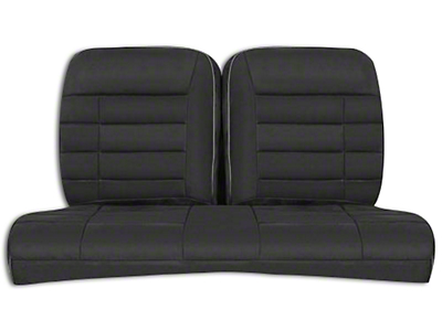 Corbeau Rear Seat Cover - Black Microsuede (79-93 Coupe)