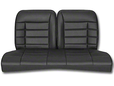 Corbeau Rear Seat Cover - Black Vinyl (79-93 Coupe)