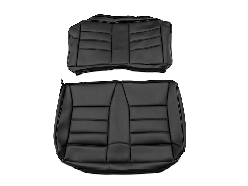 Corbeau Rear Seat Cover - Black Vinyl (83-93 Convertible)