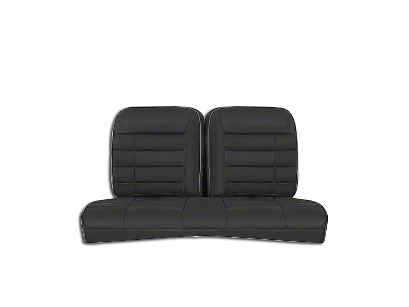 Corbeau Rear Seat Cover - Black Vinyl (84-93 Hatchback)